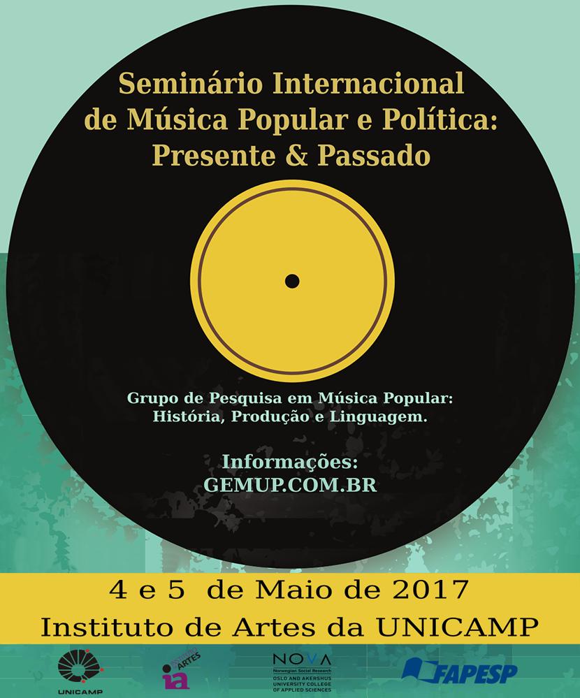 Seminário Internacional de Música e Política na Unicamp.